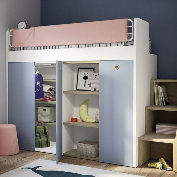 Stack ~ kids loft bed + desk/wardrobes, - SPACEMAN