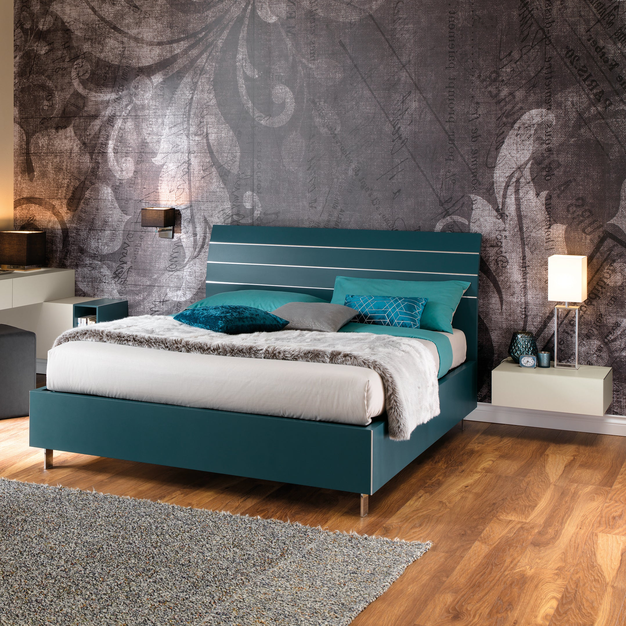 Slumberstore Curve Storage Bed With Stylish Wood Headboard Spaceman Innovations Pte Ltd