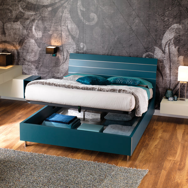 Slumberstore Curve ~ Storage Bed with stylish wood headboard