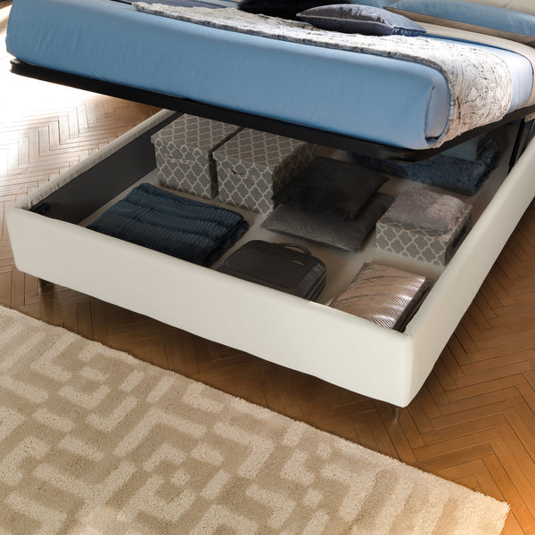 Slumberstore Hash ~ Storage bed with geometric headboard