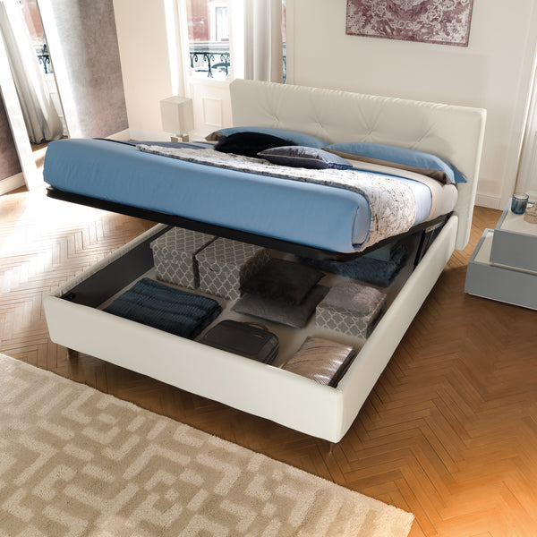 Slumberstore Plush ~ Storage bed with luxe headboard