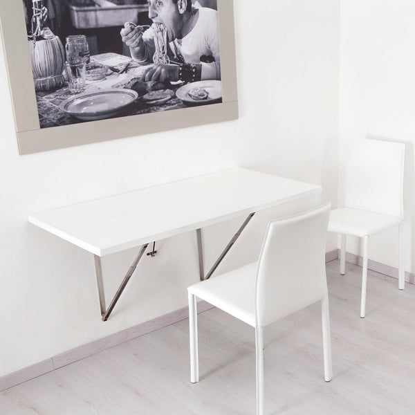 Flip Wall Mounted Folding Table With Soft Close Spaceman
