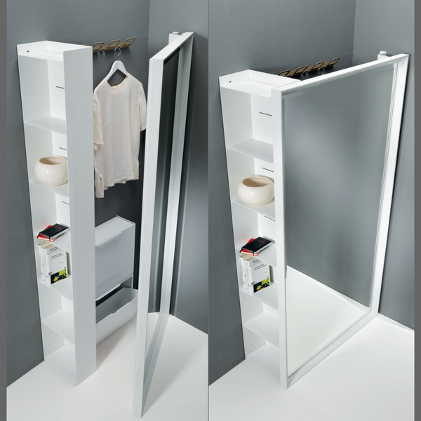 Magic Bookcase - mirror/ storage