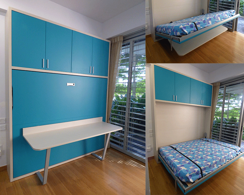 Liberty bed with customised shelves