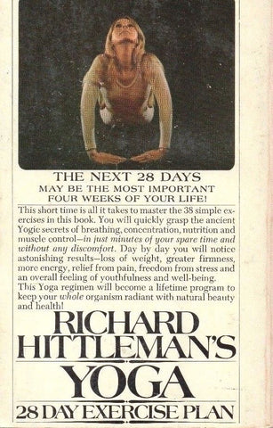 Richard Hittlemanʻs Yoga: 28 Day Exercise Plan (1978, Paperback)