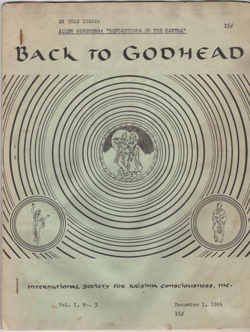 Vintage Back To Godhead Hare Krishna Magazine from 1966 Vol 1 No 3 Very Rare