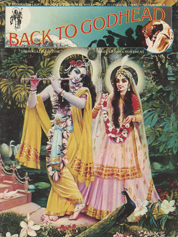 Rare Back to Godhead Hare Krishna Magazine From 1973 Number 52 Vintage