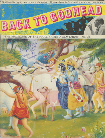 Rare Editors Back to Godhead Hare Krishna Magazine From 1970 #5 Vintage