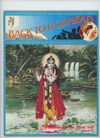 Rare Back to Godhead Hare Krishna Magazine From 1972 Number 45 Vintage very good