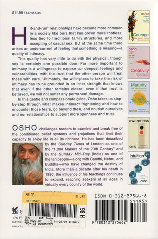 Intimacy Trusting Oneself and the Other By Osho Bhagwan Shree Rajneesh