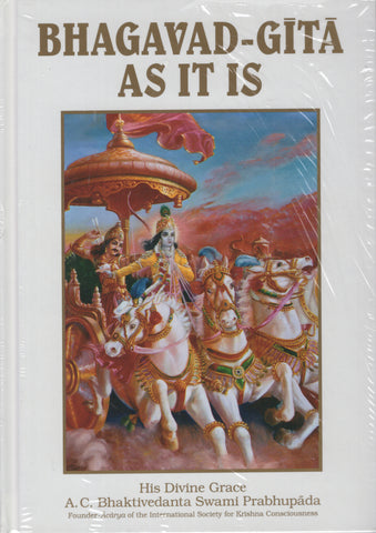 Bhagavad-Gita As It Is By A. C. Bhaktivedanta Swami Prabhupada Hardcover White