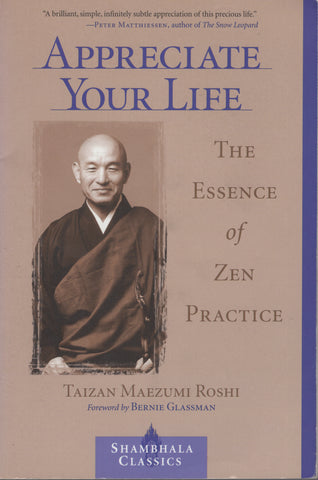 Appreciate Your Life: The Essence of Zen Practice by Taizan Maezumi