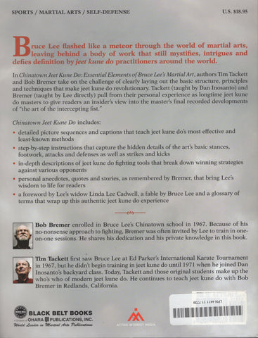 Chinatown Jeet Kune Do by Tim Tackett, Bob Bremer Essential Elements of Bruce Lee's Martial Art
