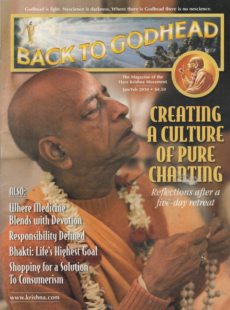 Back To Godhead Hare Krishna Magazine Jan/Feb 2010