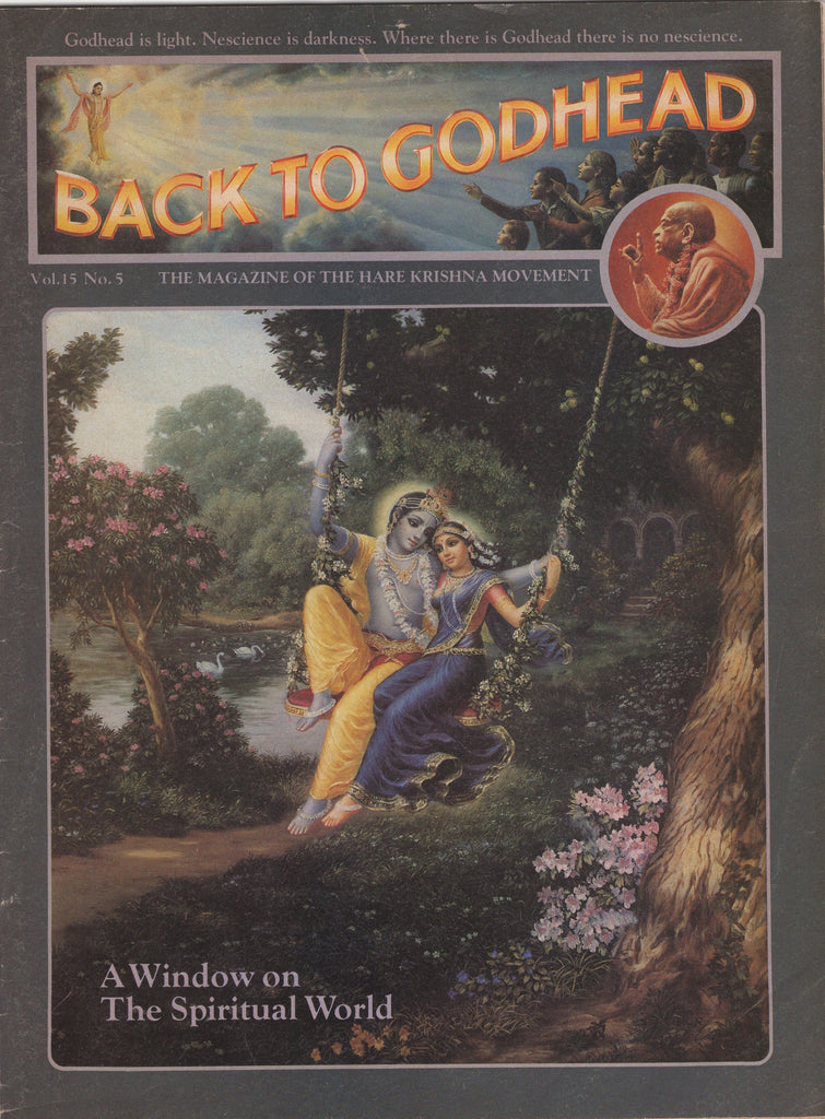 Back to Godhead Hare Krishna Magazine 1980 Vol. 15, No.5
