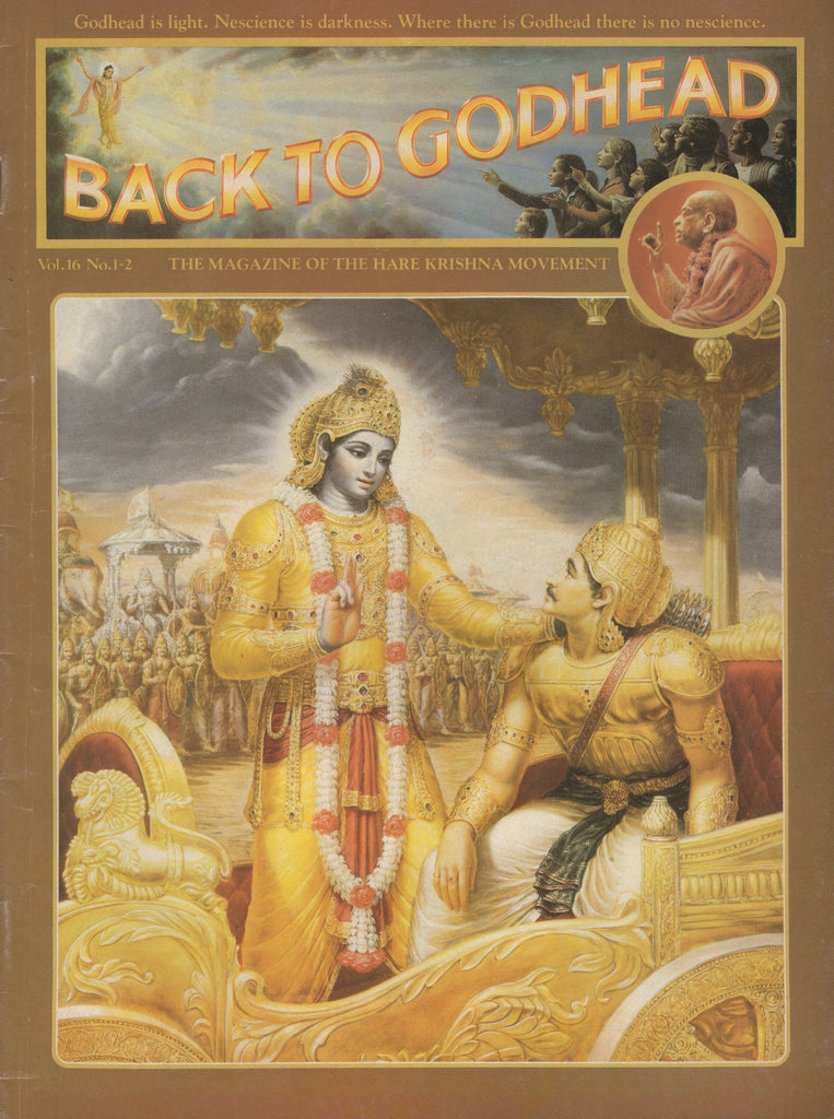 Back to Godhead Hare Krishna Magazine 1981 Vol. 16, No.1-2