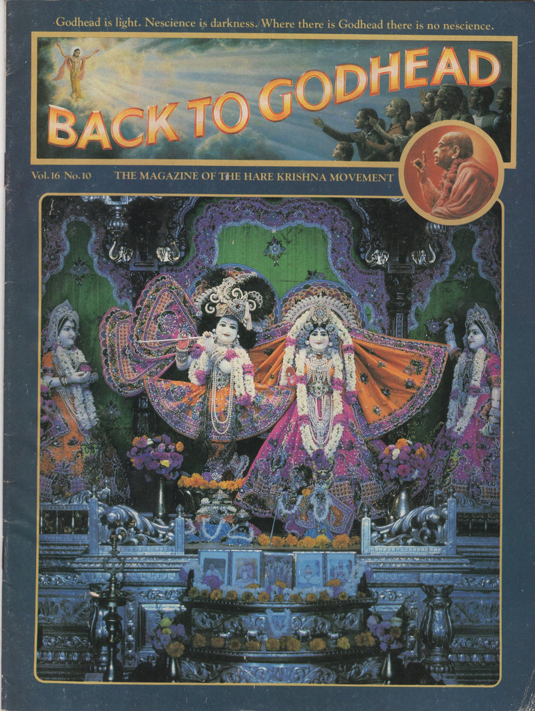 Back to Godhead Hare Krishna Magazine 1981 Vol. 16, No.10