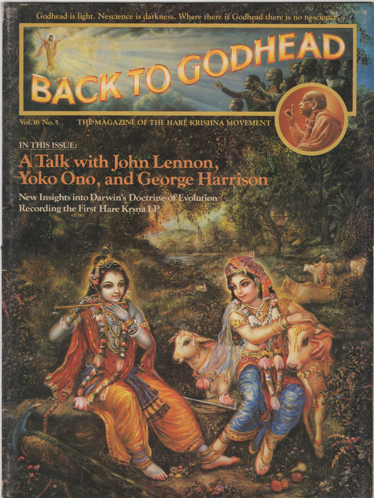 Back to Godhead Hare Krishna Magazine 1981 Vol. 16, No.5