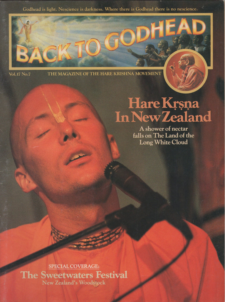 Back to Godhead Hare Krishna Magazine 1982 Number Vol.17 No.7