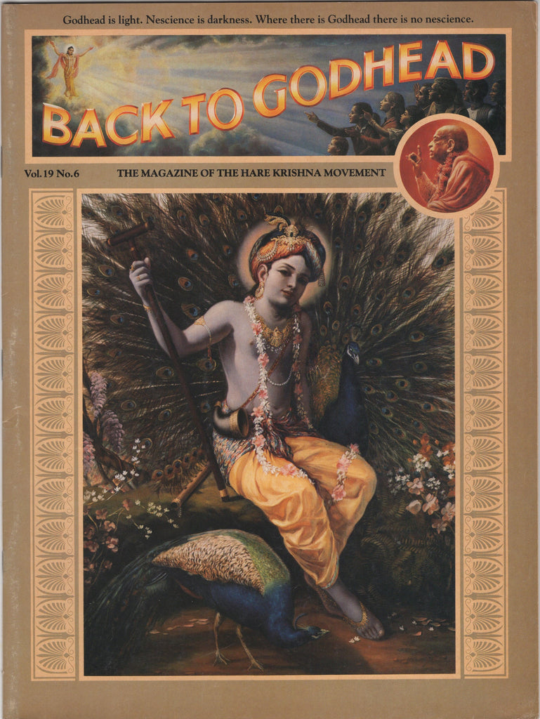 Rare Back To Godhead Hare Krishna Magazine 1984 Vol.19 No.6