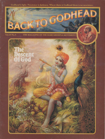 Back to Godhead Hare Krishna Magazine 1985 Vol.20 No. 5