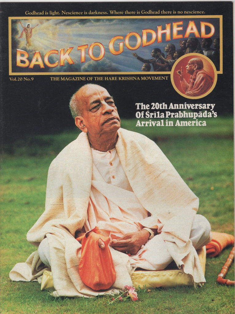 Rare Back To Godhead Hare Krishna Magazine 1985 Vol.20 No.9