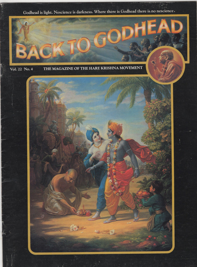 Rare Back To Godhead Hare Krishna Magazine 1987 Vol.22 No.4