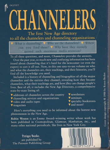Channelers : A New Age Directory by Robin Westen