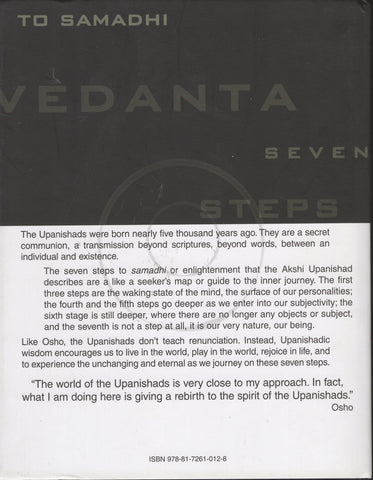 Vedanta: Seven Steps to Samadhi by Osho Hardcover