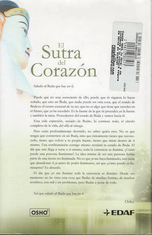 El sutra del corazon (Spanish Edition) Hardcover by Osho
