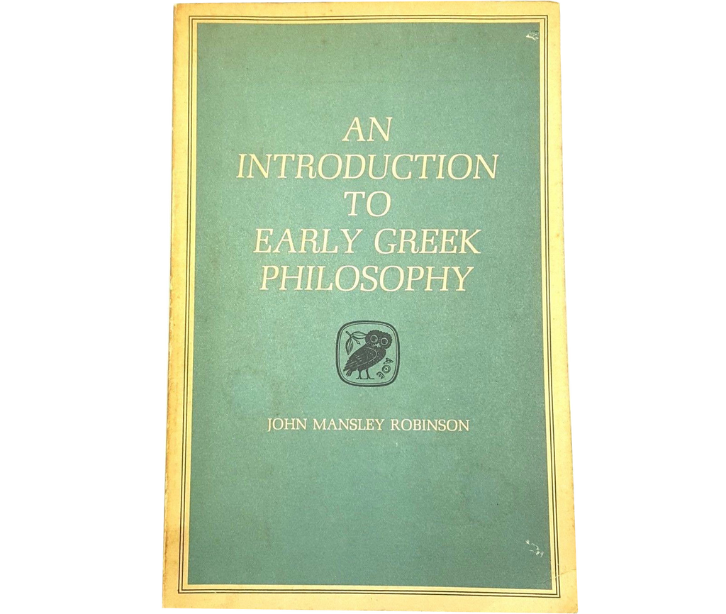 Introduction to Early Greek Philosophy by John M. Robinson (1968, Paperback)