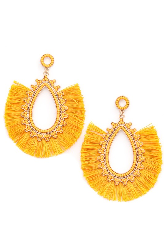 Oval Full Fringe Earrings