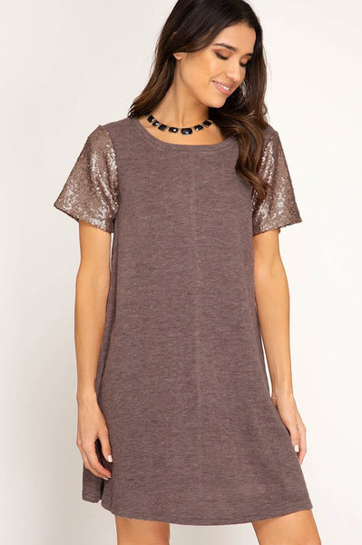 Sequin Knit Dress