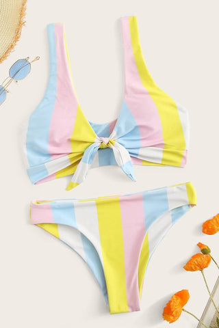 Front Tie Two Piece Bikini