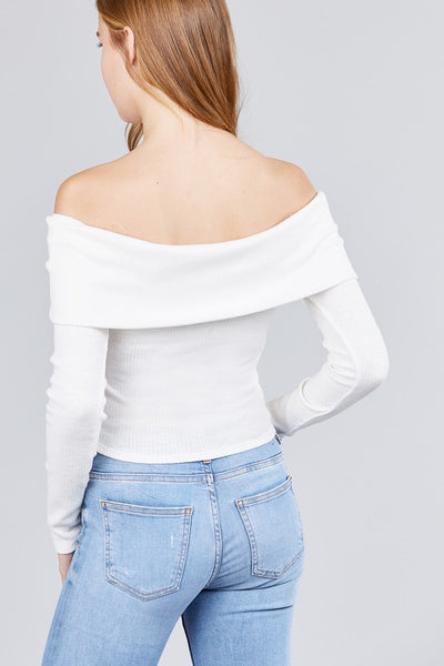 Off The Shoulder Longsleeve Top