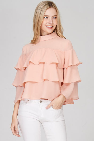 High Neck Layered Top