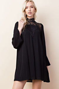 Mock Neck Tunic Dress