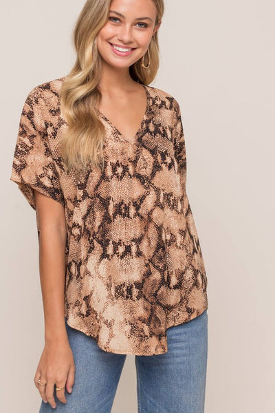 Dolman Sleeve Vneck Top