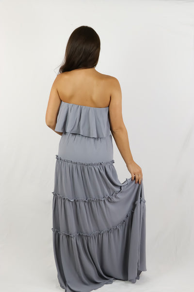 Wendy Maxi Dress (Dusty Blue)