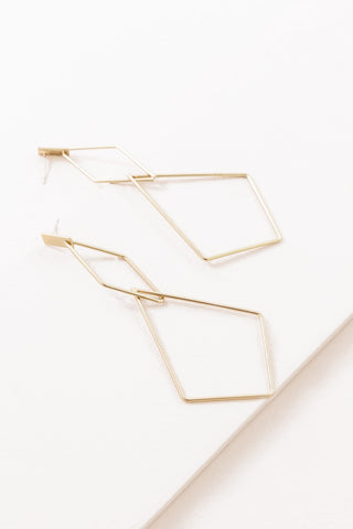 Hanging Low Drop Earrings (Gold)