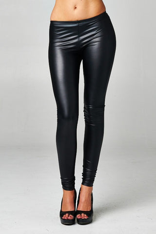 Black Leather Leggings