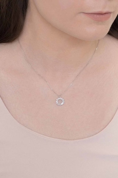 Sun Ring Necklace Sterling Silver / 14k Gold Plated
