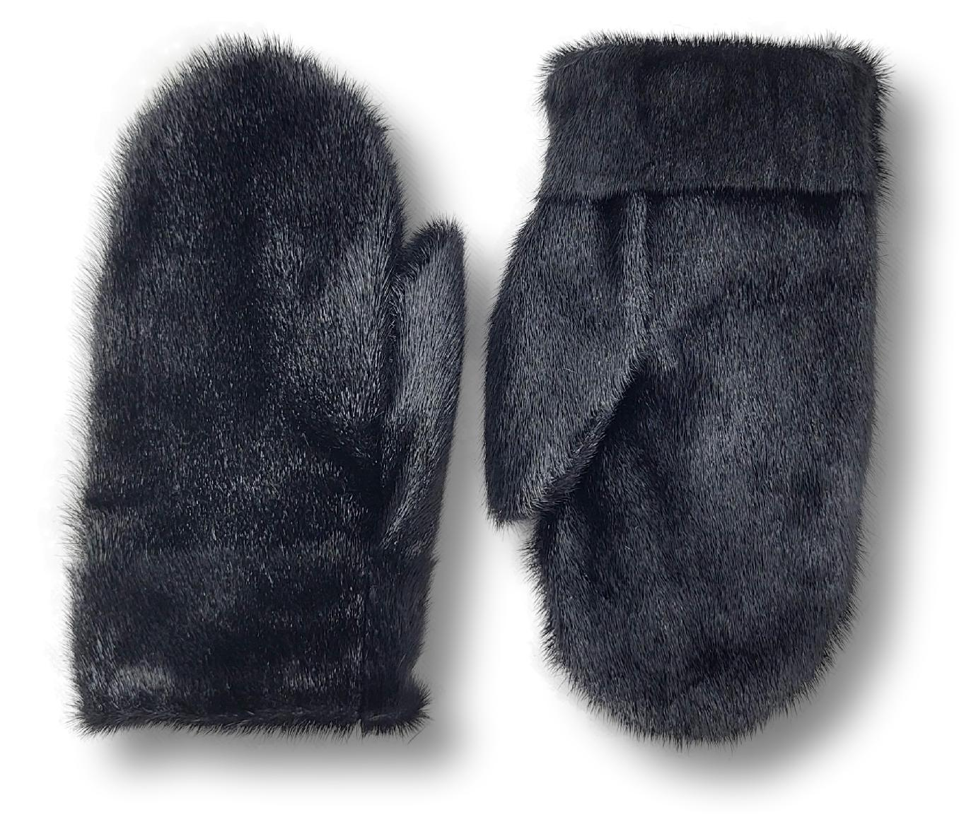 Mitten - Ringed Seal - Accesories - Black | STAMPE PELS