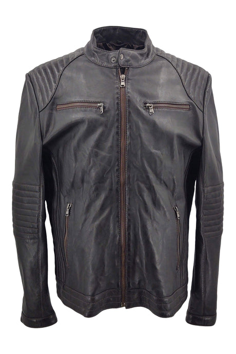 Girona - Sheep Leather - Man - Dark Brown | STAMPE PELS