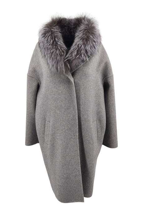 Afraic, 95 cm. - Wool - Women - Grey | STAMPE PELS