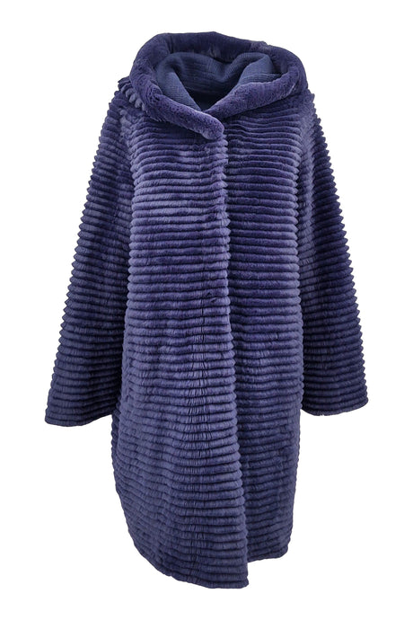 19-125 Wool, 90 cm. - Rex - Women - Dark Blue | STAMPE PELS