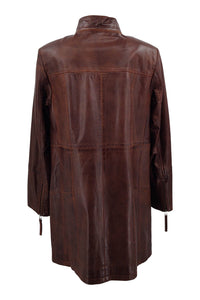 Evana - Lamb Copper Leather - Women - Brown / Læder Skinds Jakke - Levinsky - Kvinde | STAMPE PELS