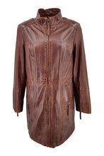 Load image into Gallery viewer, Evana - Lamb Copper Leather - Women - Brown / Læder Skinds Jakke - Levinsky - Kvinde | STAMPE PELS