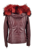 Load image into Gallery viewer, Lisa - Hood - Lamb Glove Leather - Women - Bordeaux | STAMPE PELS