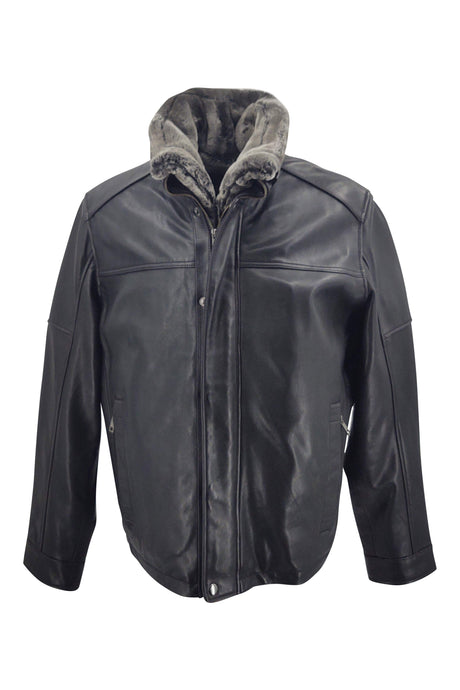 Marco - Lamb Leather - Man - Black / Læderjakke | STAMPE PELS